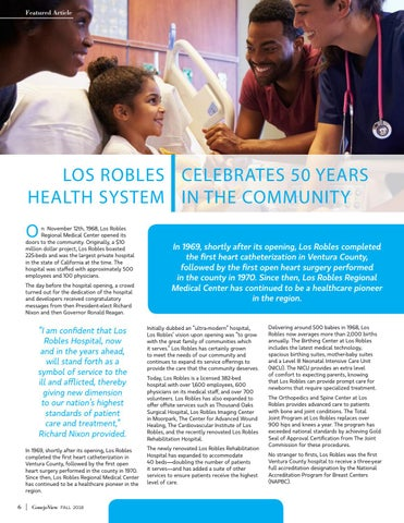 Page 8 of Los Robles Health Systems - Celebrating 50 Years in the Coommunity