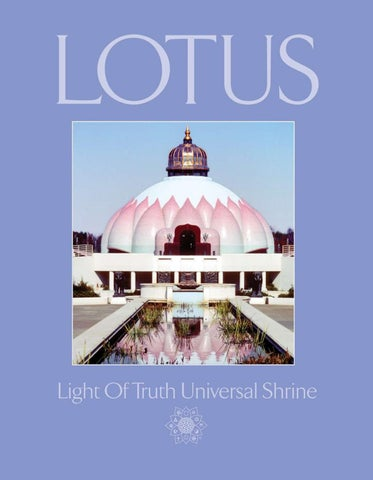 LOTUS: The Light Of Truth Universal Shrine by Yogaville