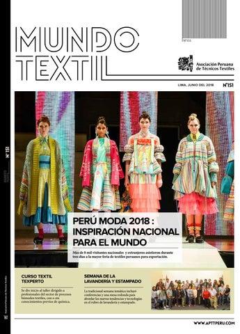 2daba9dde MUNDO TEXTIL 151 by Asociación Peruana de Técnicos Textiles - issuu