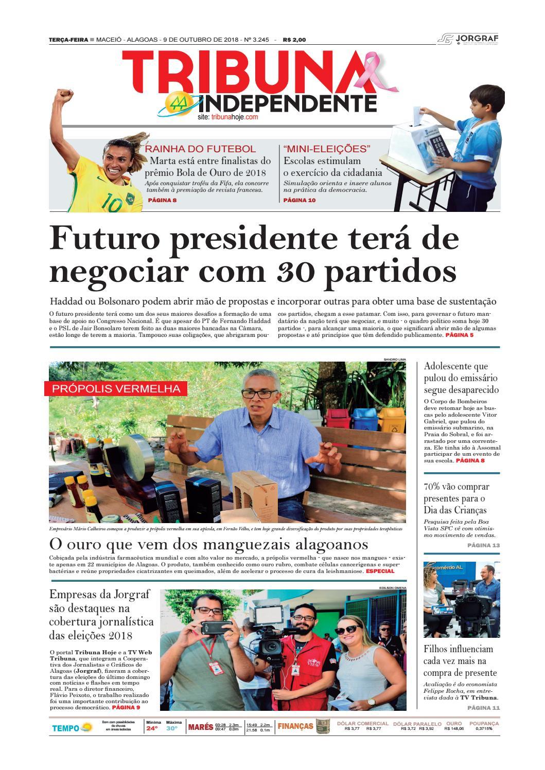 4e30eb8d6b7eb Edição número 3245 - 9 de outubro de 2018 by Tribuna Hoje - issuu