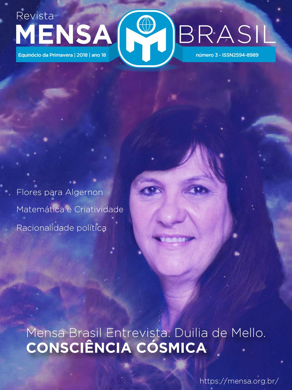 938cd2b75 Revista mensa Brasil - edição Primavera 2018  capa2 by Associação Mensa  Brasil - issuu