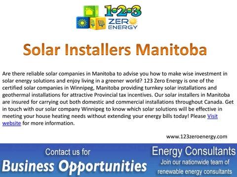 Best Solar Companies >> Best Solar Installers In Manitoba By 123 Zeroenergy Issuu
