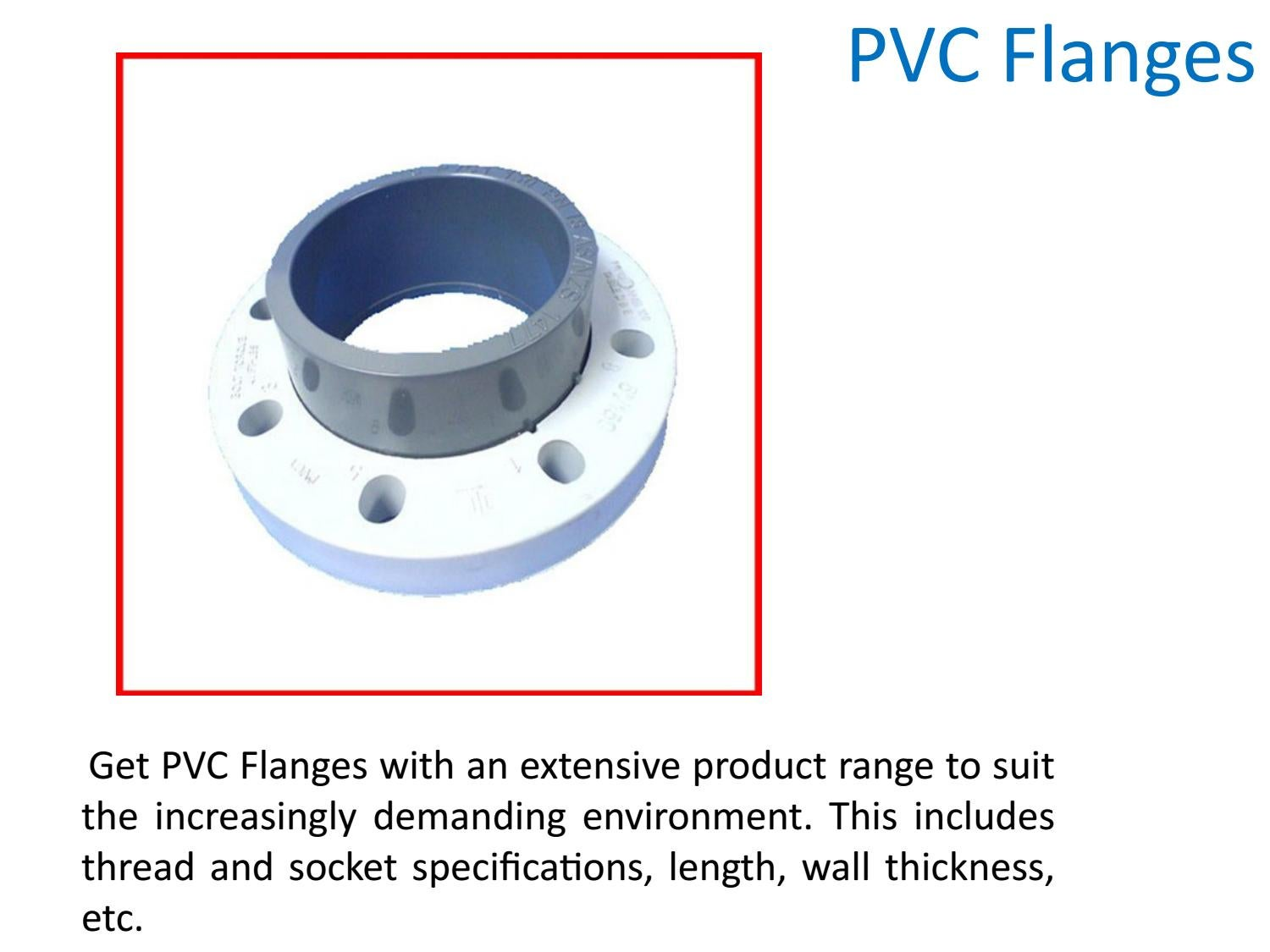 PVC Pressure Fittings by James Oliver - issuu