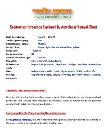 Sagittarius Horoscope Explained by Astrologer Vinayak Bhatt by
