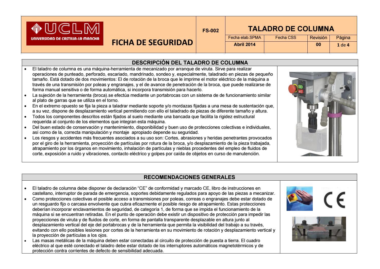 manual taladro de columna pdf