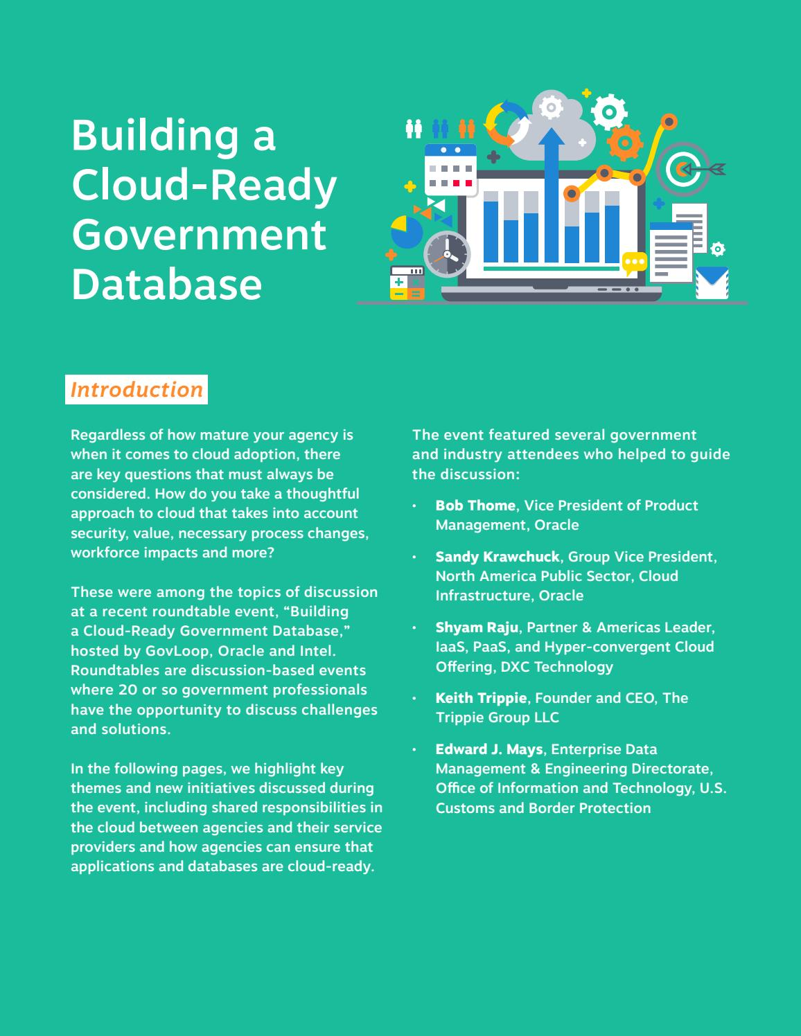 Building a Cloud-Ready Government Database by GovLoop - issuu