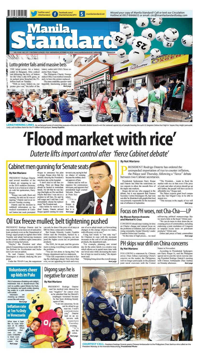 9a39033a0f Manila Standard - 2018 October 10 - Wednesday by Manila Standard - issuu