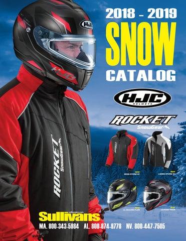 HJC IS-MAX II Mine IS-MAX2 Electric Modular Snowmobile Helmet Red LG Large