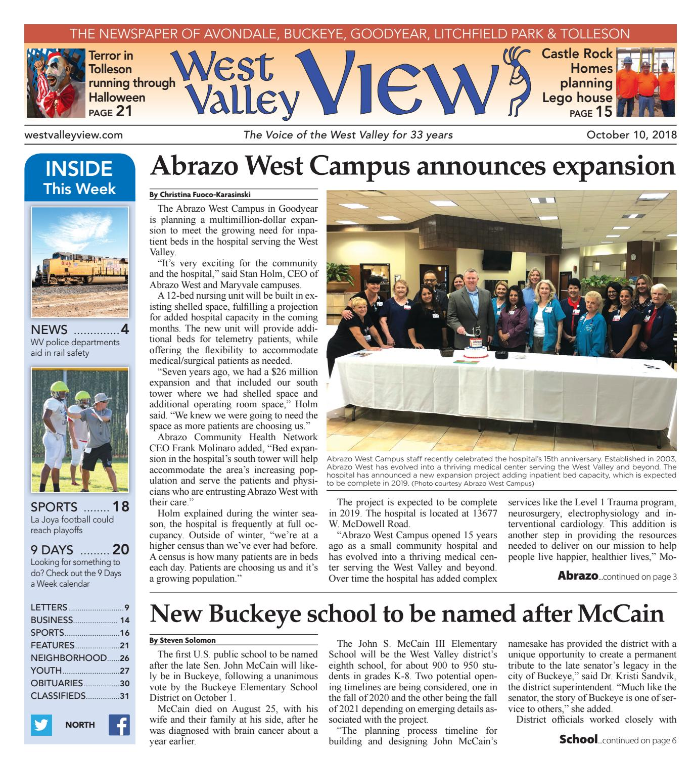 West Valley View: North October 10, 2018 by Times Media Group - issuu