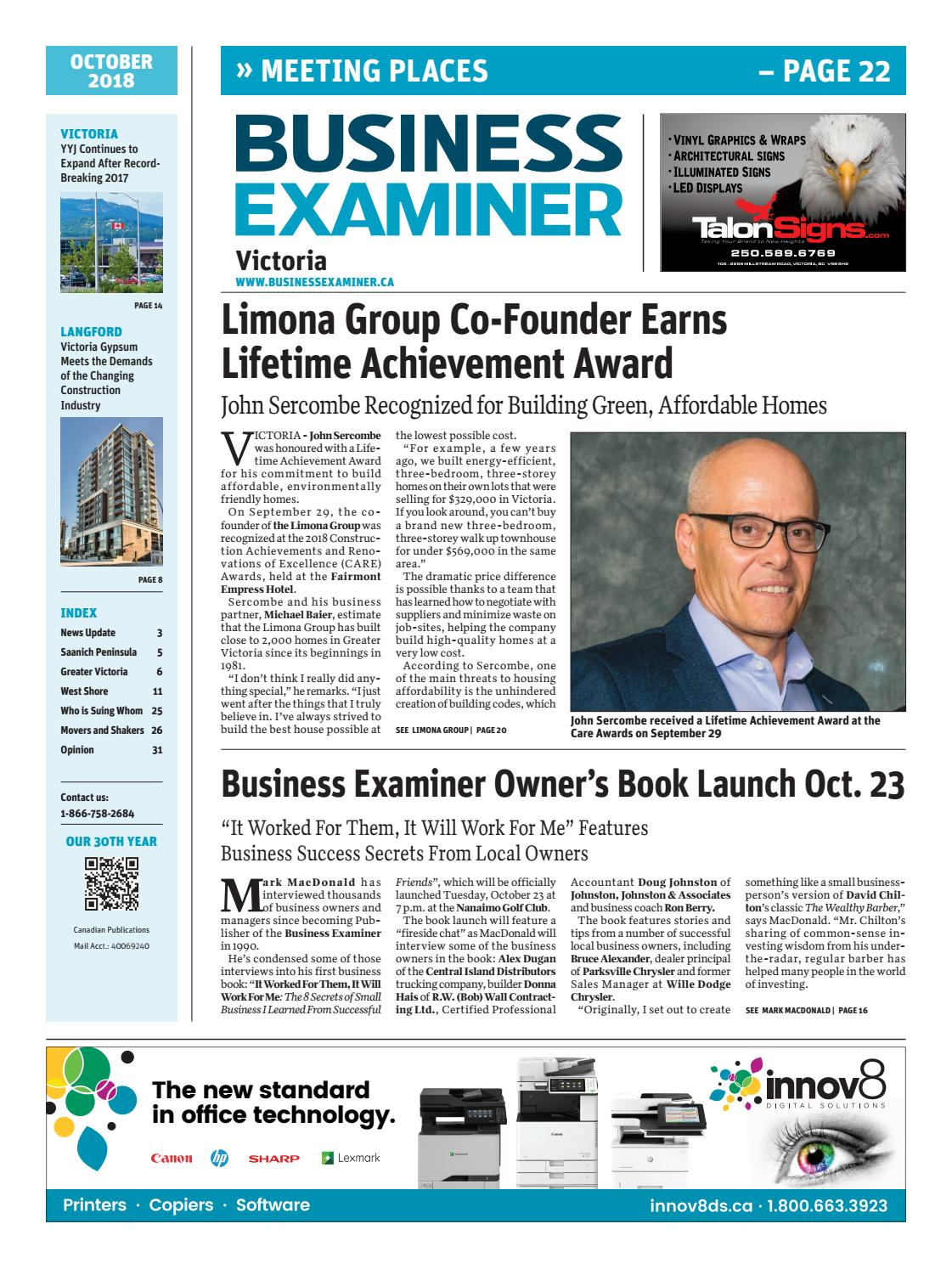 0c2293ccf9e Business Examiner Victoria - October 2018 by Business Examiner Media Group  - issuu