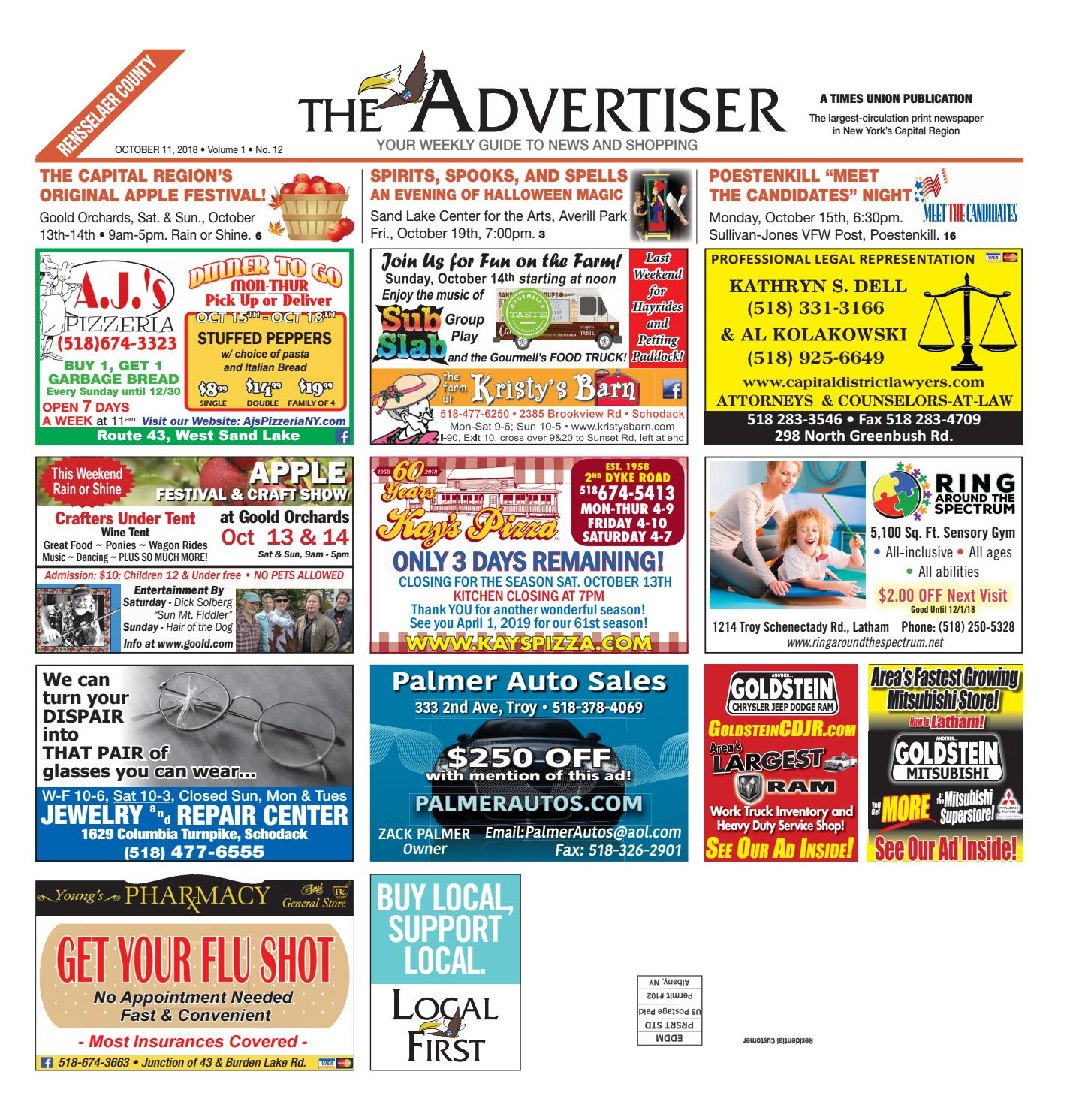 1aa943c8830 Local First The Advertiser 101118 by Capital Region Weekly Newspapers -  issuu