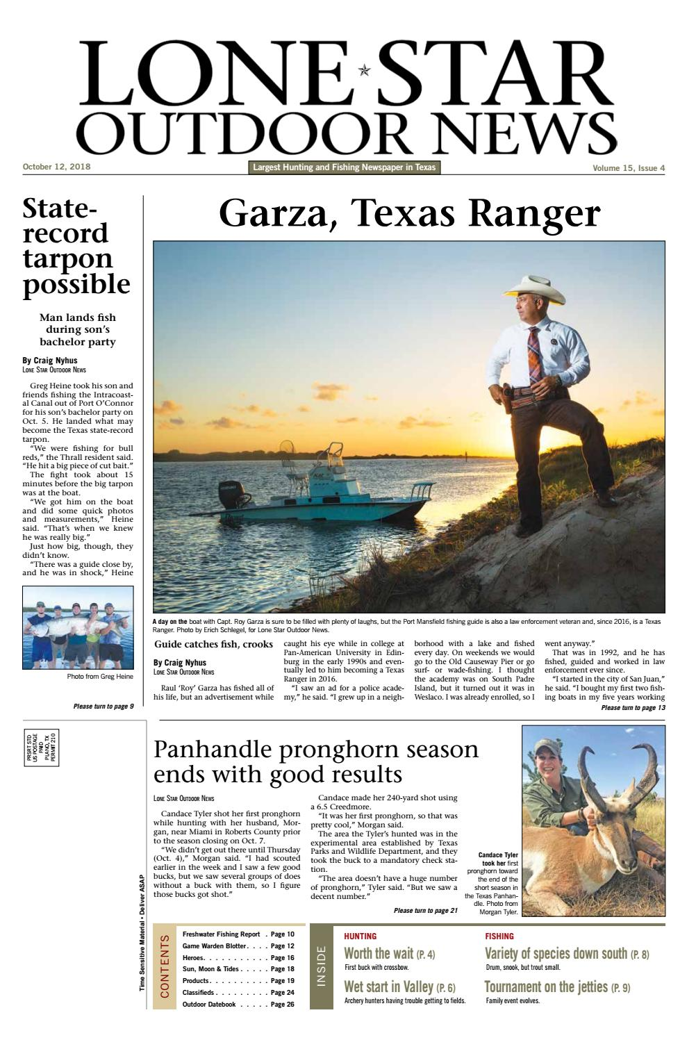 October 12, 2018 - Lone Star Outdoor News - Fishing