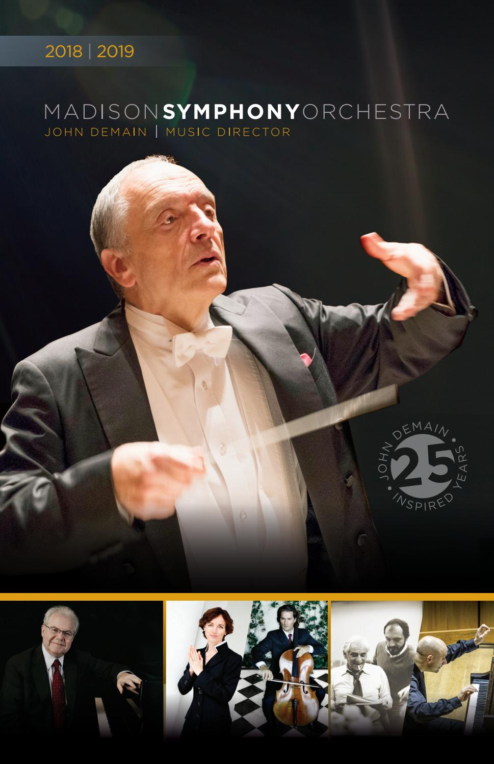 Mso Program Book Sept Oct Nov 2018 By Madison Symphony Orchestra
