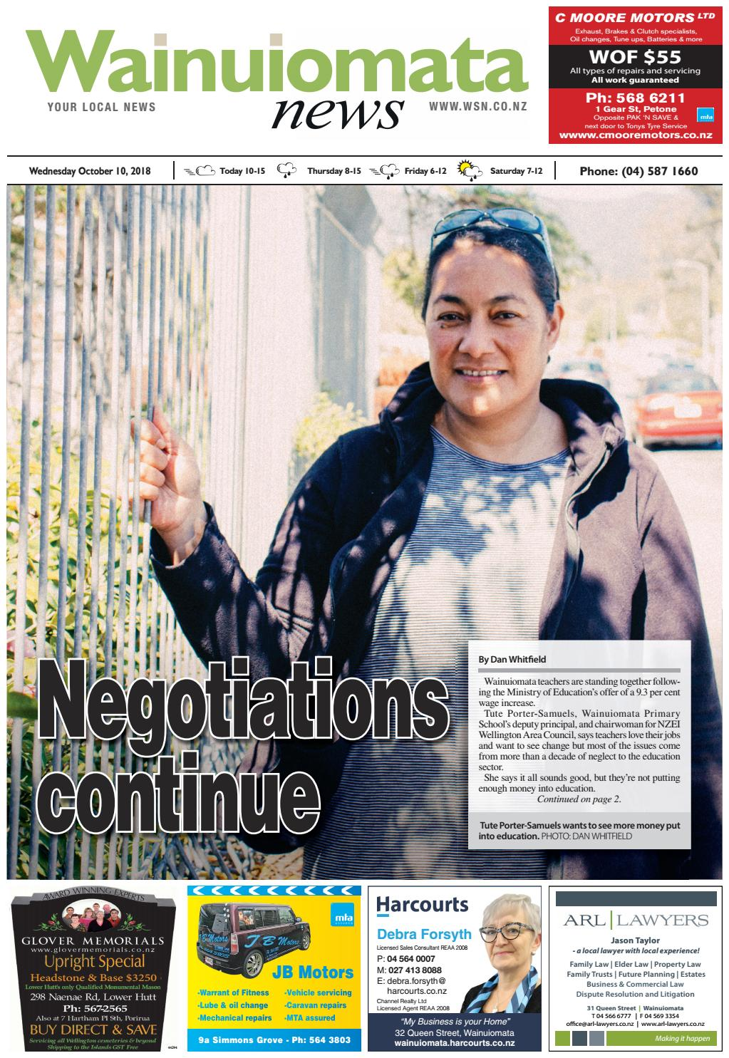 2f8cd5aeb795 Wainuiomata News 10-10-18 by Local Newspapers - issuu