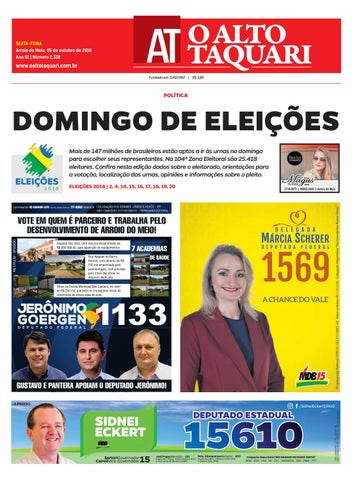 0f2401905 Jornal O Alto Taquari - 05 de outubro de 2018 by Jornal O Alto ...