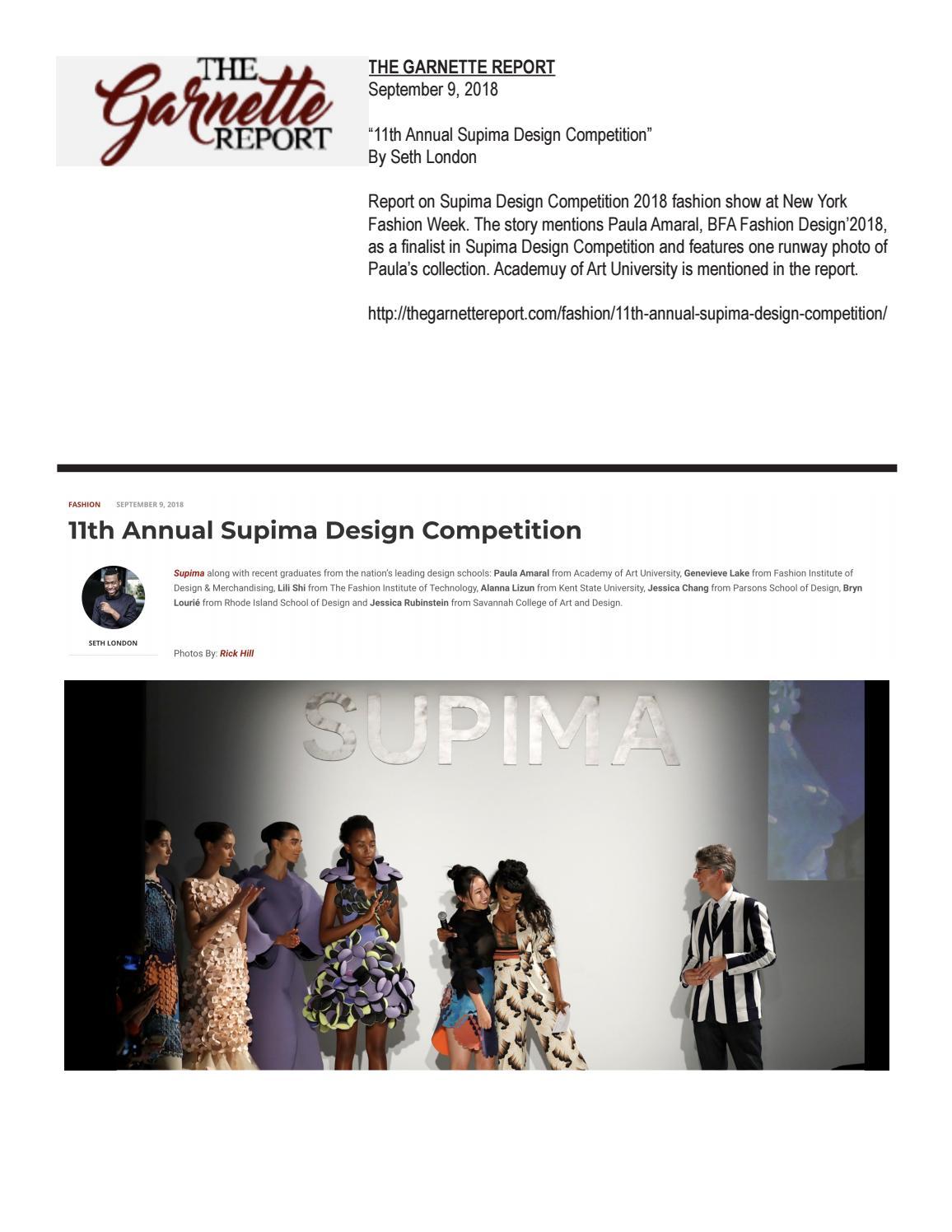 09 09 2018 The Garnette Report By Academy Of Art University School Of Fashion Issuu
