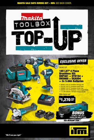 Makita Toolbox Top Up Promotion By Itm Support Office Issuu