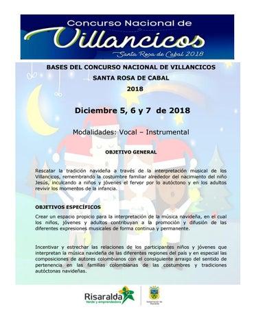 Bases Del Concurso Nacional De Villancicos 2018 By