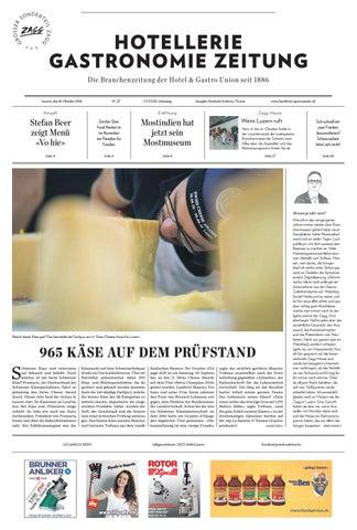 HG Zeitung 27 2018 By Hotellerie Gastronomie Verlag