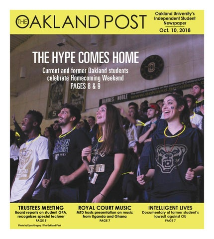 The Oakland Post 101018 By The Oakland Post Issuu