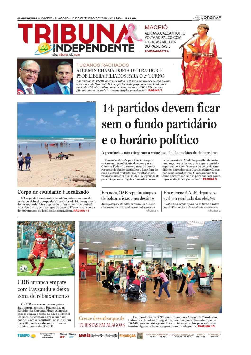 a0836ca57 Edição número 3246 - 10 de outubro de 2018 by Tribuna Hoje - issuu