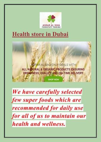 Health Sore in Dubai by asraralsiha - issuu