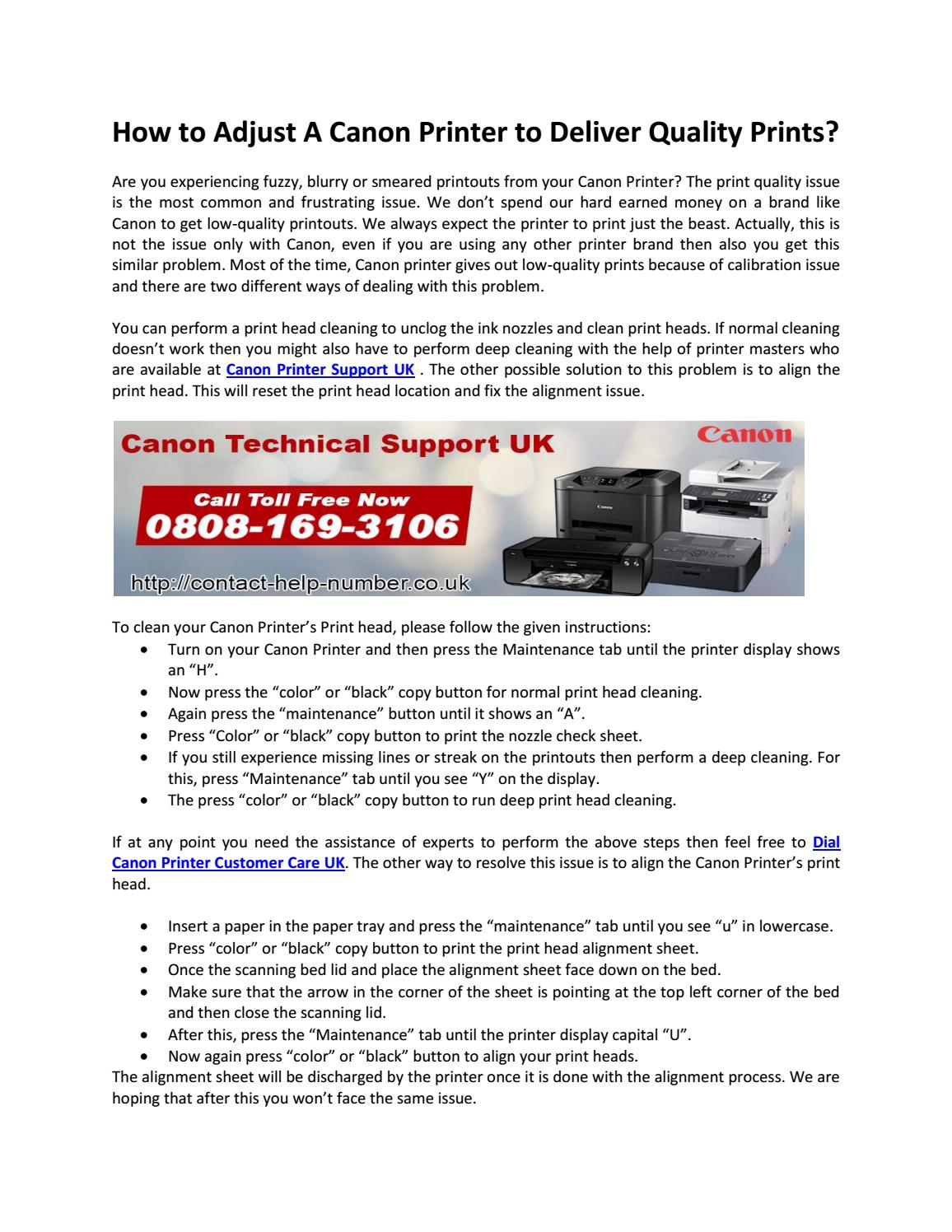 How to Adjust A Canon Printer to Deliver Quality Prints? by