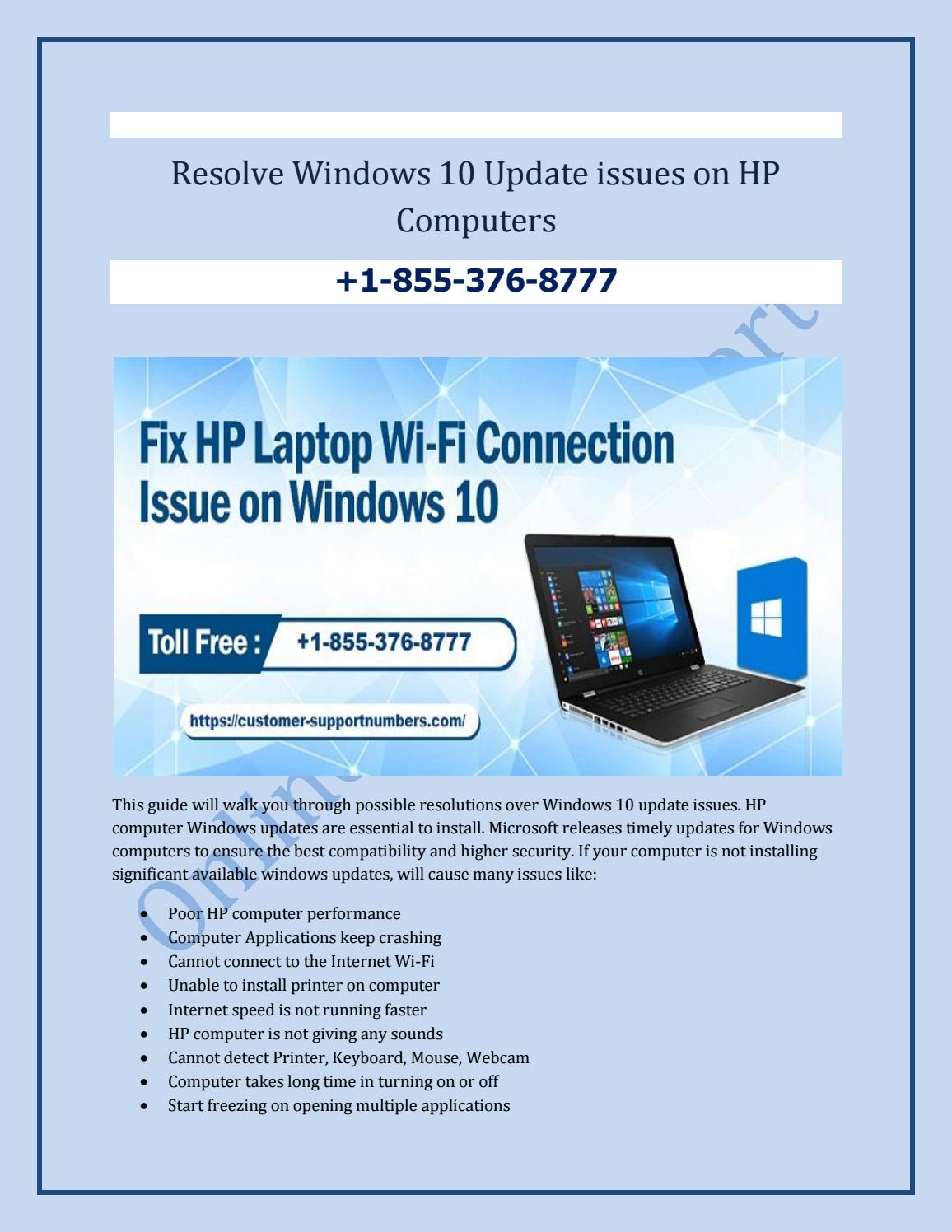 Resolve Windows 10 Update issues on HP Computers by Alina
