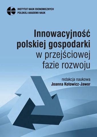 2ac3d2fcb24c0 Innowacyjność polskiej gospodarki w przejściowej fazie rozwoju ...