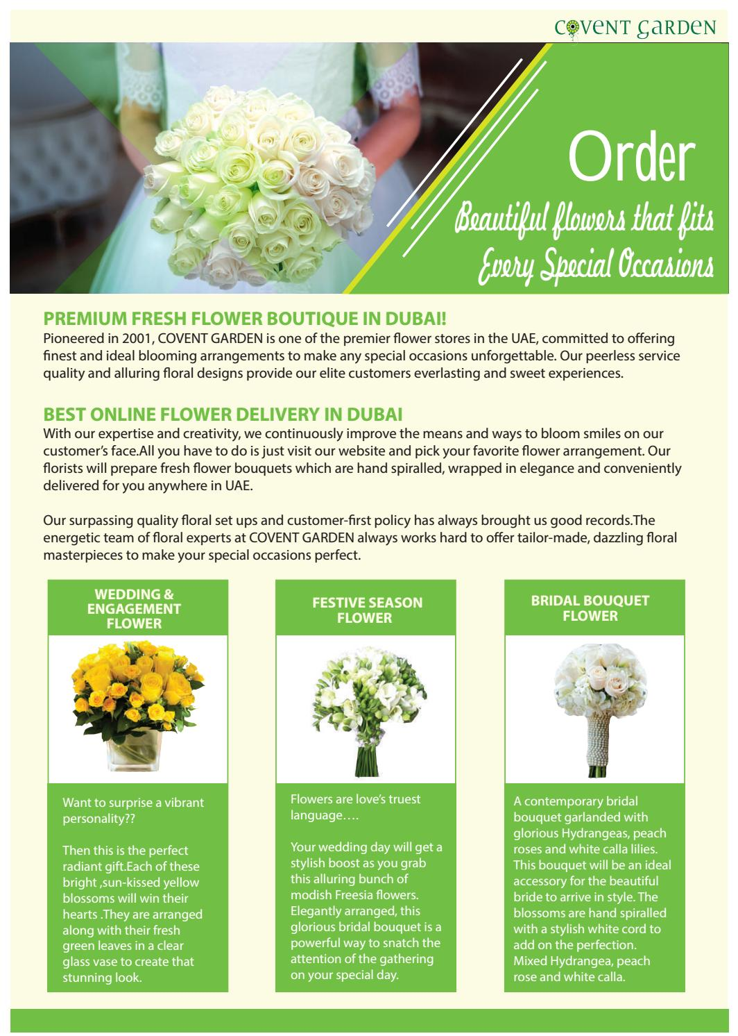 Online Flower Bouquet Delivery In Dubai By Gardeniajasmine89 Issuu