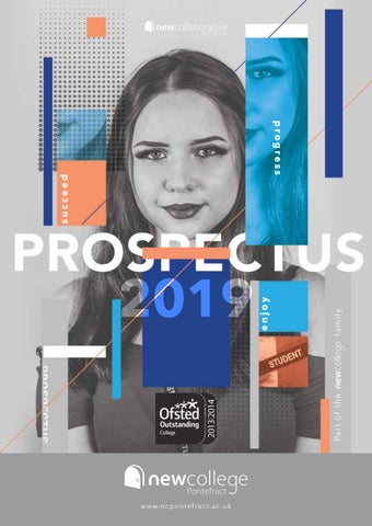 New College Pontefract 2019 Prospectus by New College - issuu