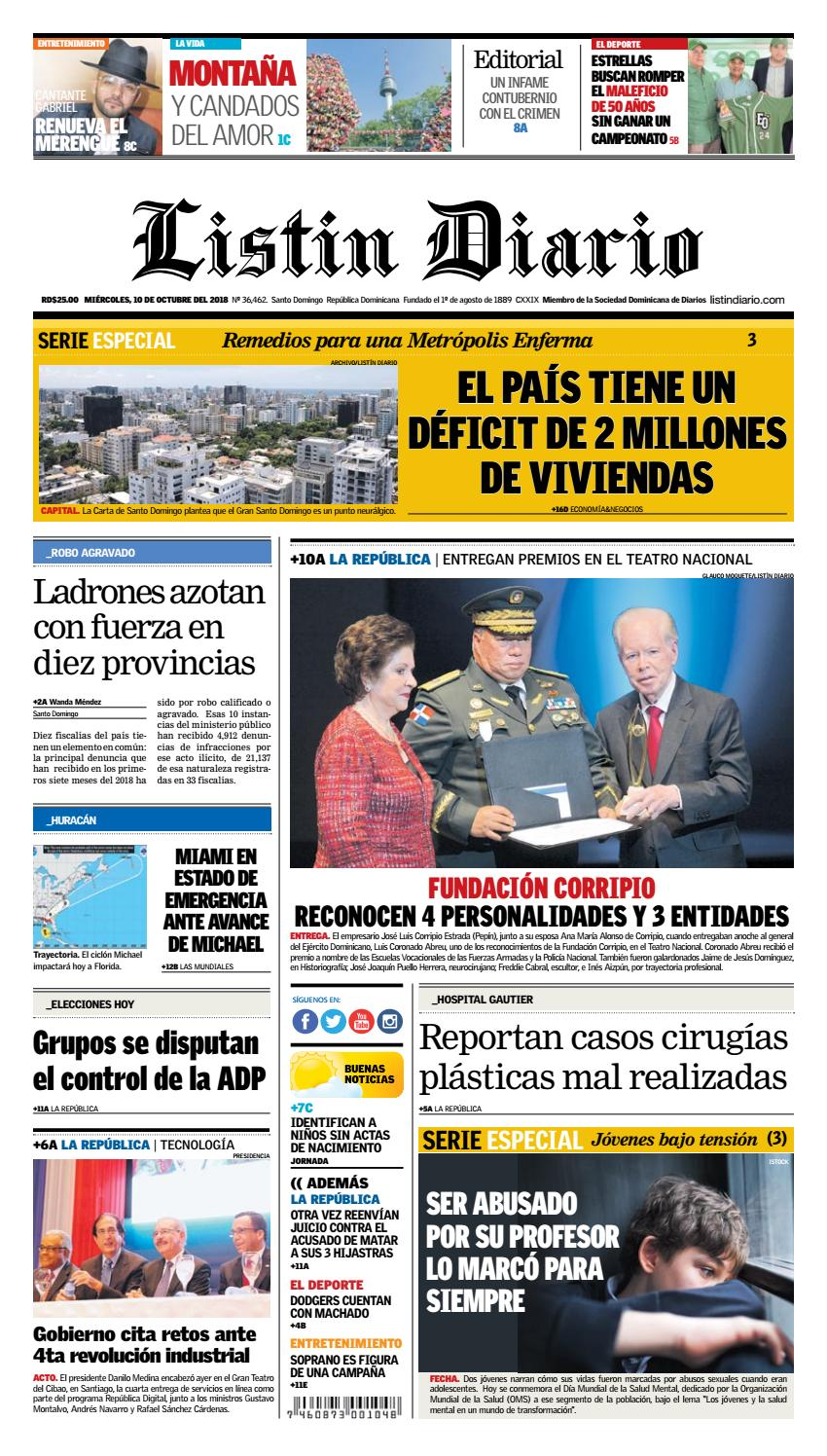 LD 10-10-2018 by Listín Diario - issuu 9ba9e7a5806