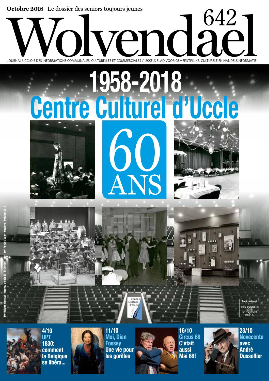 Wolvendael magazine n° 642 octobre 2018 by Centre Culturel d'Uccle - issuu
