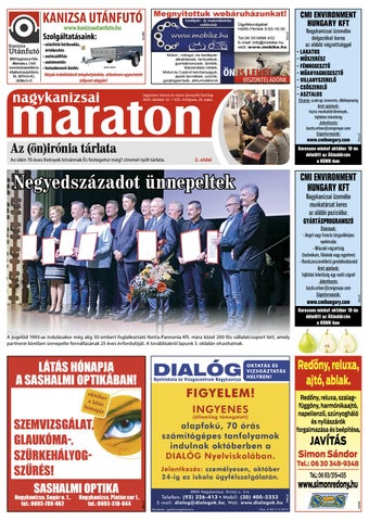 Nagykanizsai Maraton - 2018. 10. 12. by Maraton Lapcsoport Kft. - issuu 6c311a3202