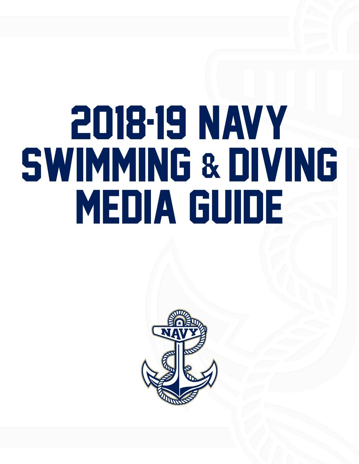 5eb3b645db27 2018-19 Swimming Guide by Naval Academy Athletic Association - issuu