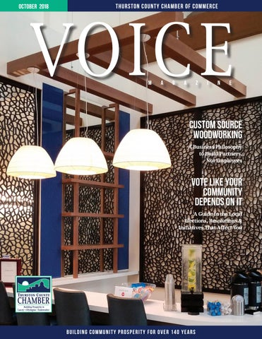 October 2018 Voice Magazine By Thurston County Chamber Of
