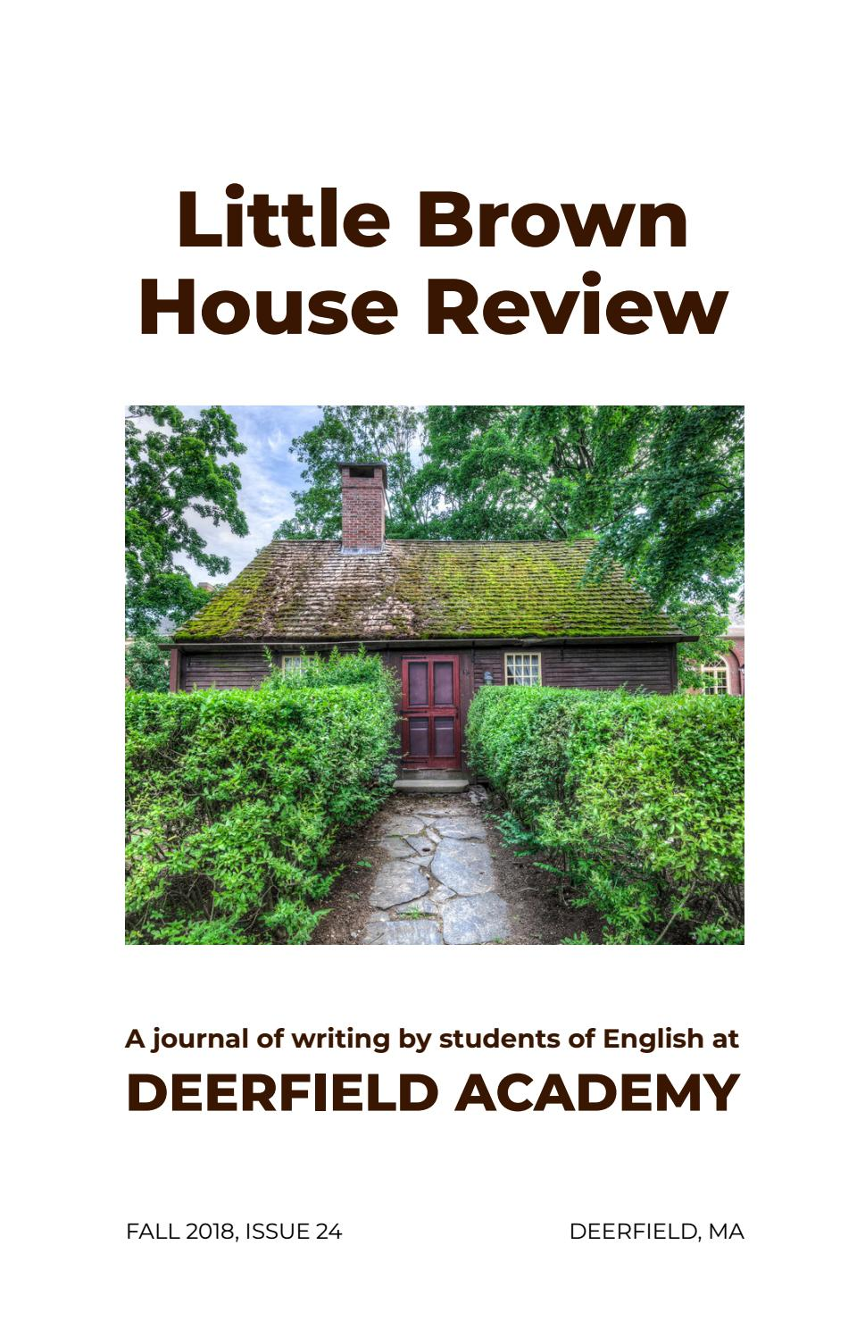 ec7c5fbe06e Little Brown House Review 24 by Deerfield Academy - issuu