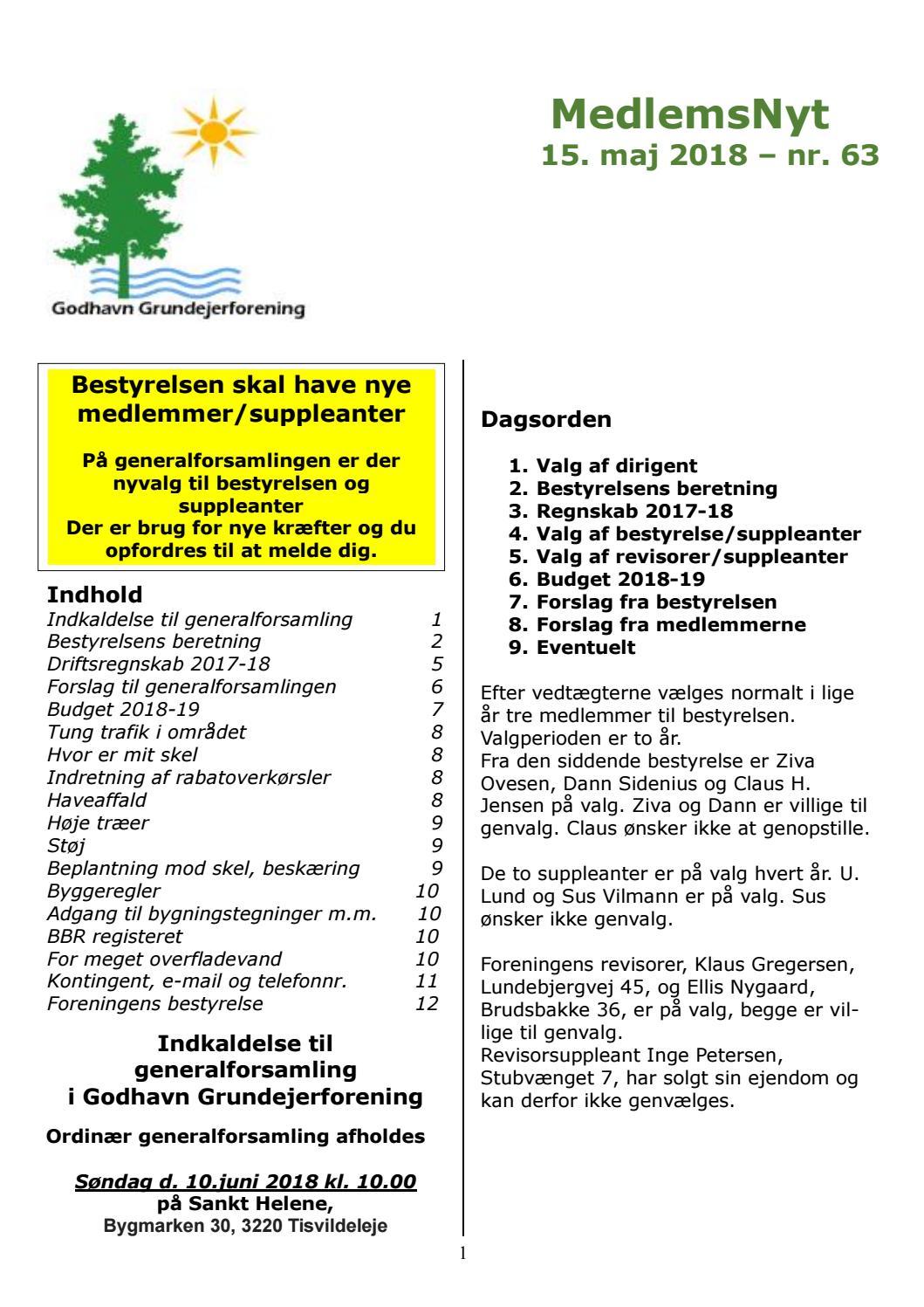 MedlemsNyt nr  63 by godhavngrundejerforening - issuu