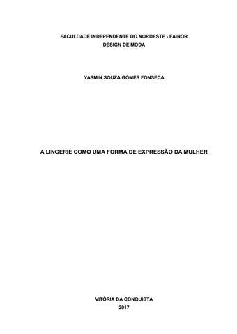 032142d25 Yasmin Souza Gomes Fonseca by Fainor - issuu