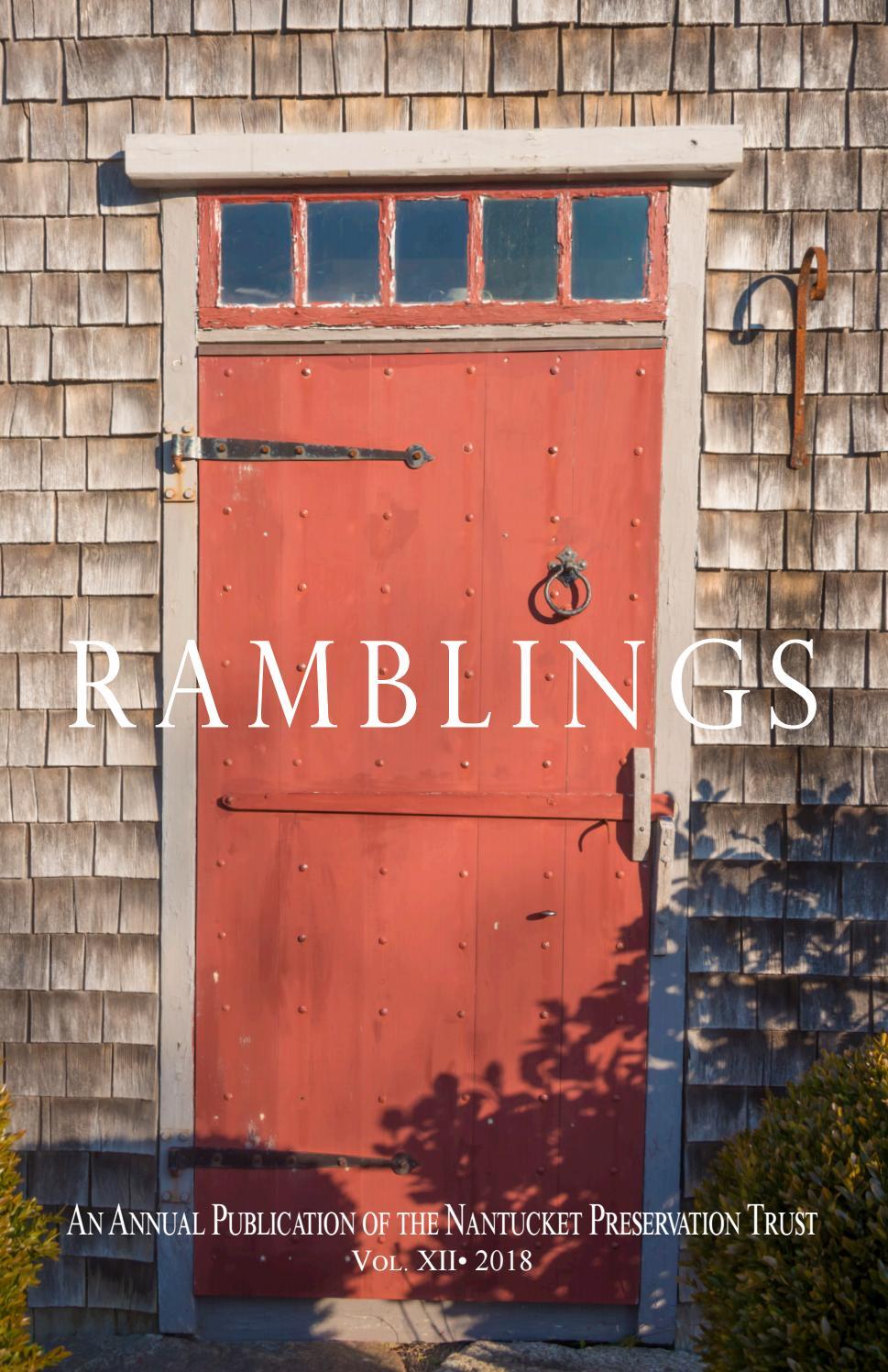 Ramblings 2018 by Nantucket Preservation Trust - issuu