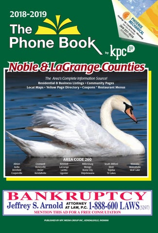 e42be60153 2018-19 The Phone Book Noble and LaGrange Counties by KPC Media ...