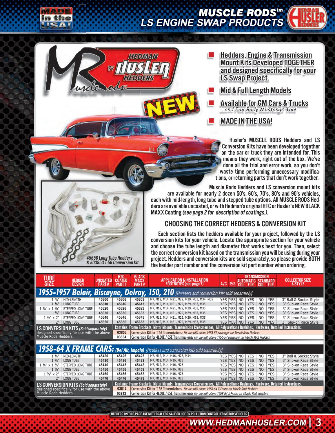HEDMAN HUSLER RACE HEADER CATALOG by Hedman Performance