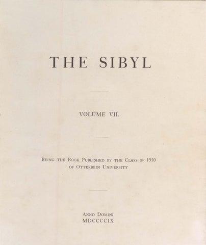 65c7f6468f8 Sibyl 1909 by Otterbein University - issuu