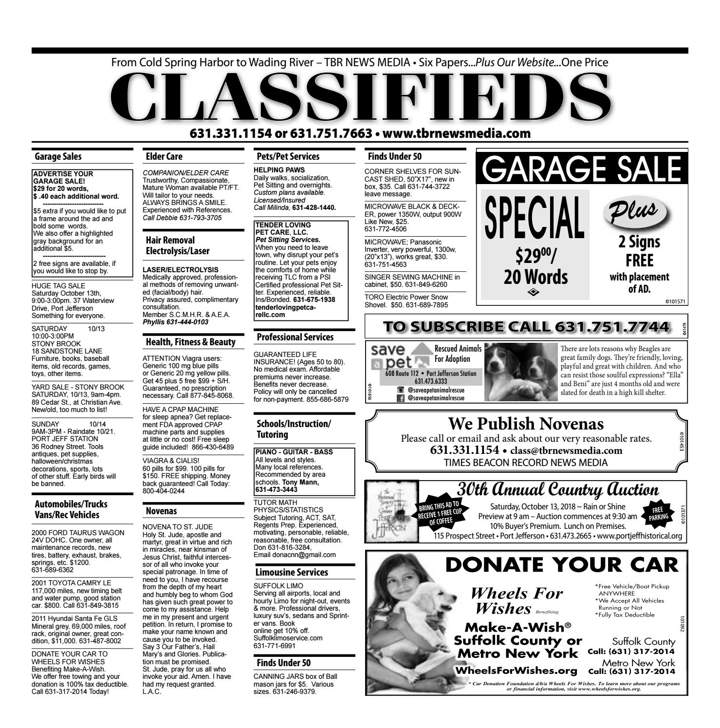 Terrific Classifieds October 11 2018 By Tbr News Media Issuu Wiring Cloud Philuggs Outletorg
