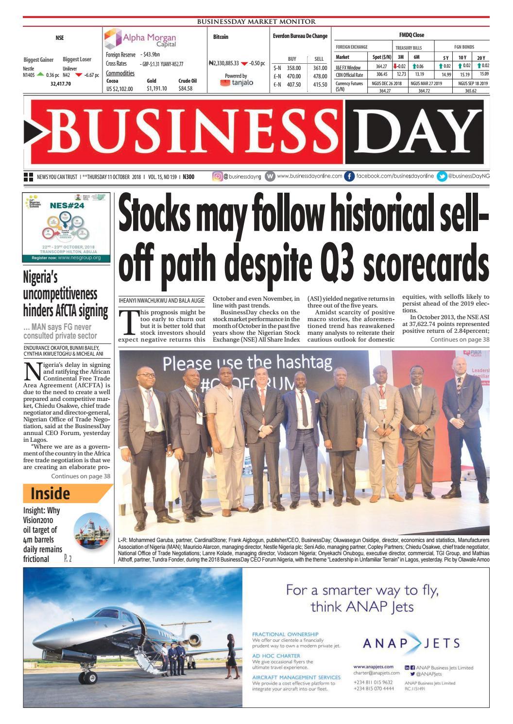 BusinessDay 11 Oct 2018 by BusinessDay - issuu