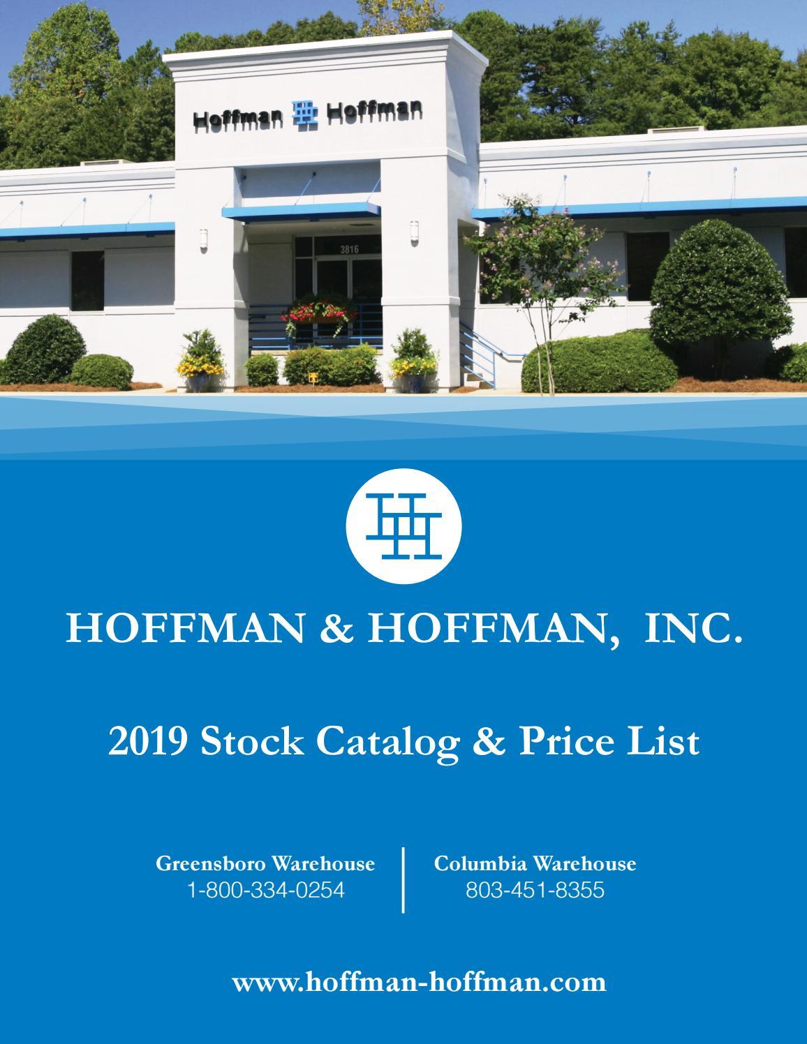Hoffman Amp Hoffman Inc 2019 Warehouse Catalog By Hoffman