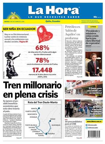 Quito 11 de octubre de 2018 by Diario La Hora Ecuador - issuu d8dbf96c147b3