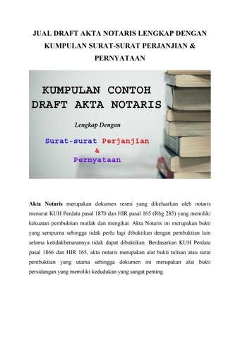 Kumpulan Akta Notaris Lengkap Dengan Surat Perjanjian Dan