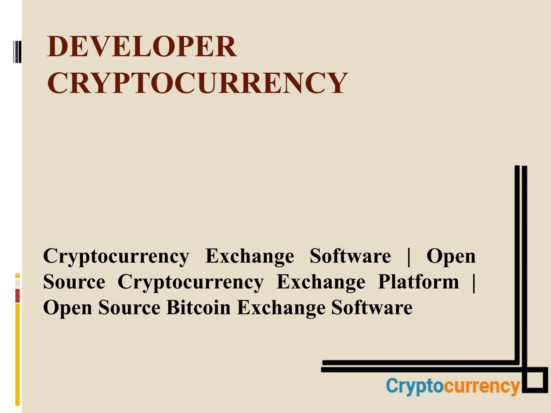 open source blockchain exchange