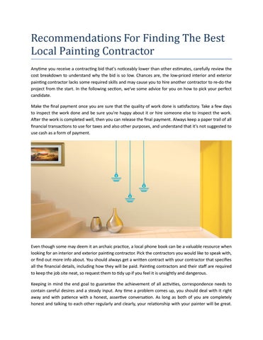 Recommendations For Finding The Best Local Painting Contractor By - Local painting contractors